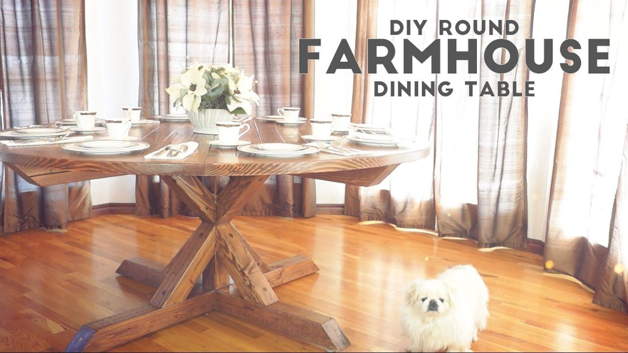 Diy Round Farmhouse Dining Table  Modern Builds  Ep53  Diy Pleasing Design Your Own Dining Room Table Decorating Inspiration