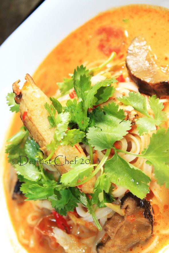 Resep Laksa Ketam Kepiting Rice Noodle In Rich Spicy Crab Curry Soup Resep Seafood Resep Kepiting Laksa