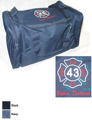 Fire Department Custom Sport Duffle Bag with Maltese Cross on Top $36.95