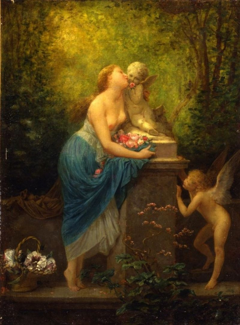 Henri Pierre Picou 1824 1895 Loss Of Innocence 1885 The Dahesh Museum Of Art Manhattan New York Usa 800 1081 Pierre Jacob Collins Cabanel