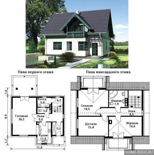 Проекты домов и коттеджей бесплатно: чертежи и фото в 2020 ...