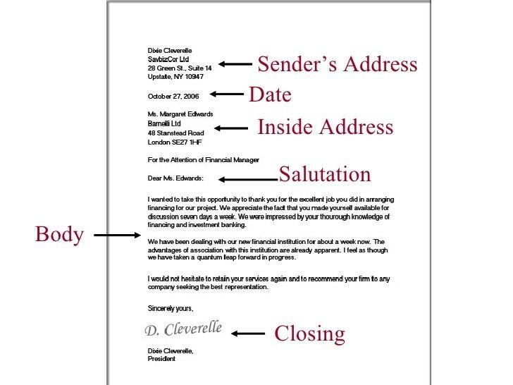 Addressing Business Letter.Legal Test Ready Using Line Breaks For Blocks Of Text To Start