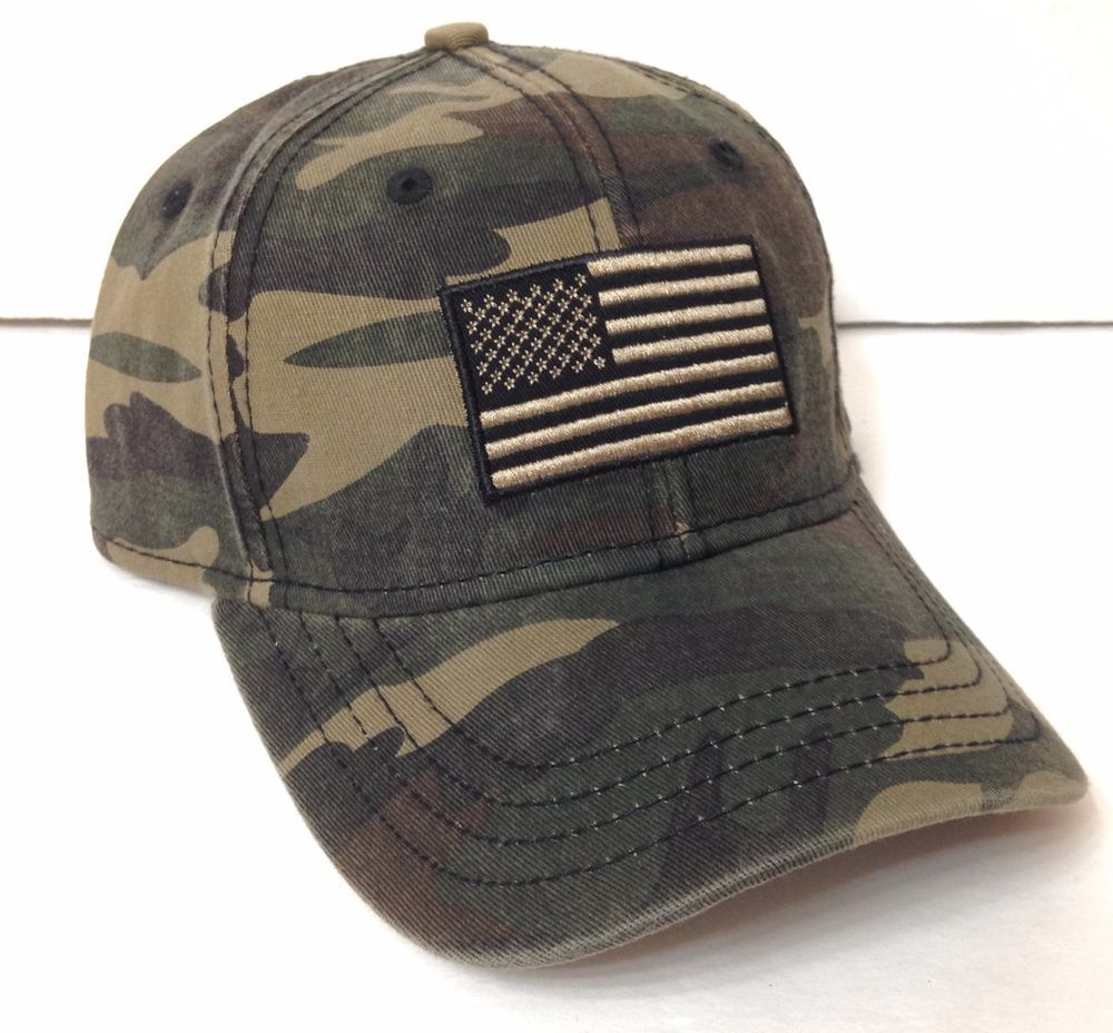 31e88c81edb New AMERICAN FLAG CAMO HAT Faded Green Brown Camouflage Men Women  Curved-Bill  Unbranded  BaseballCap