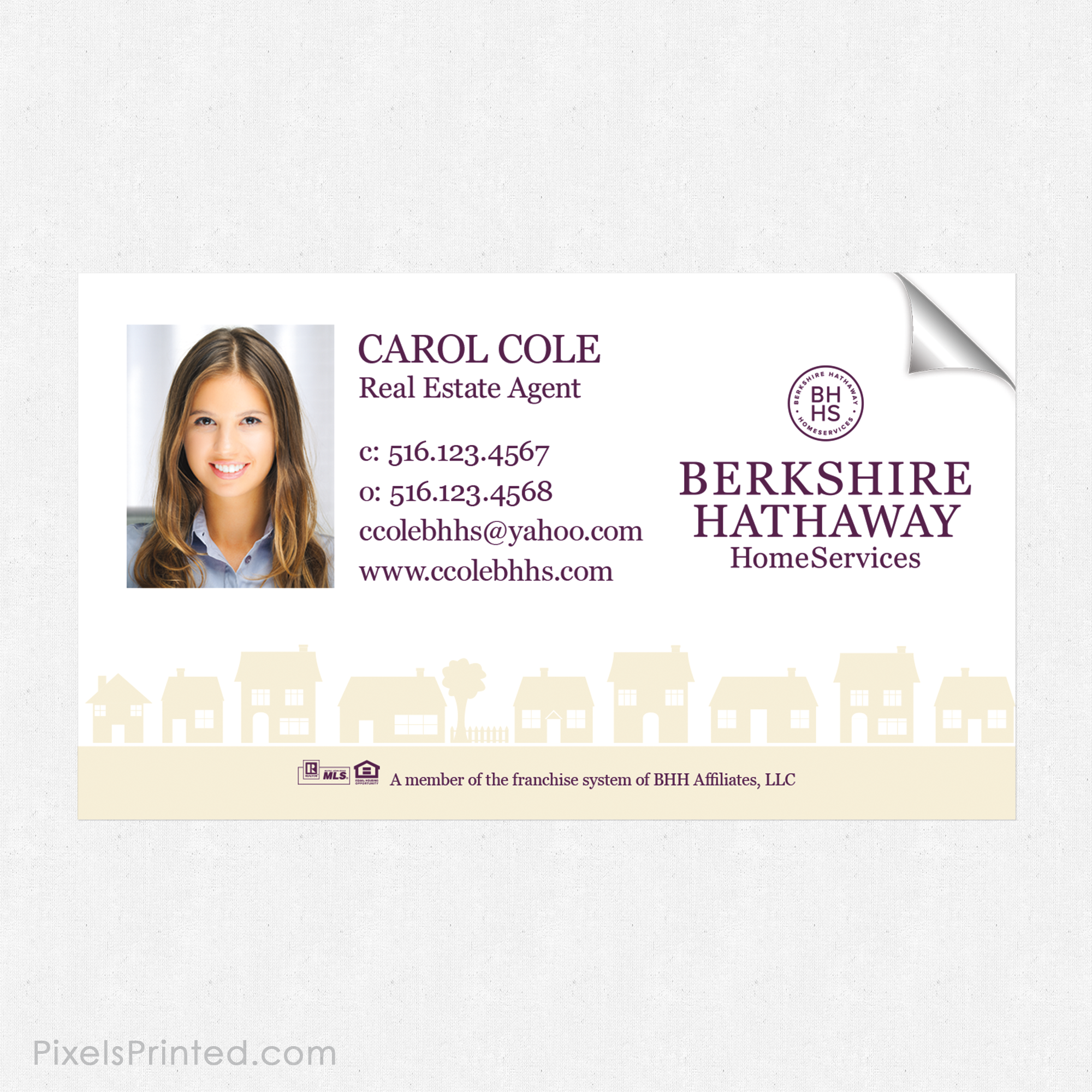 Bhhs Business Card Sticker Magnetic Business Cards Real Estate Business Cards Berkshire