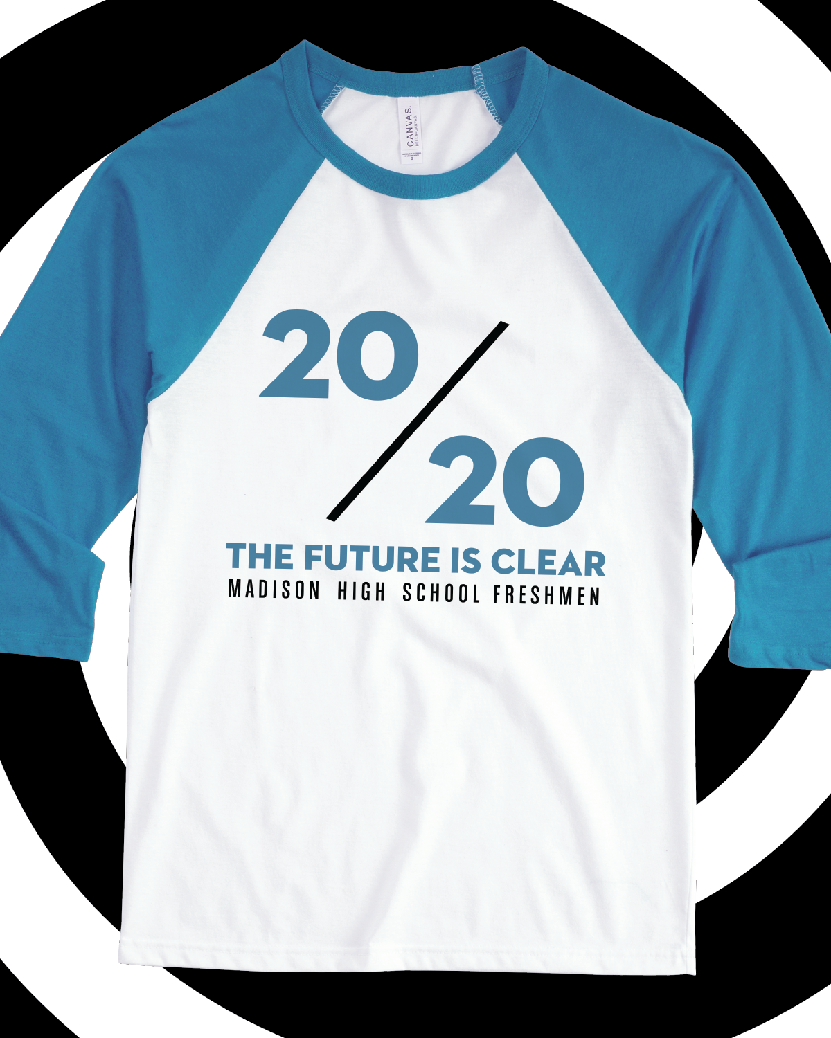 63f136d18 20/20 The Future is Clear class of 2020 raglan - design idea for custom  shirt - class shirt, graduation, class pride, school pride, school spirit,  seniors, ...