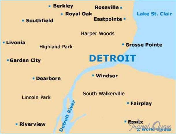 Detroit Map Httptravelquazcomdetroitmaphtml Travel - Detroit usa map