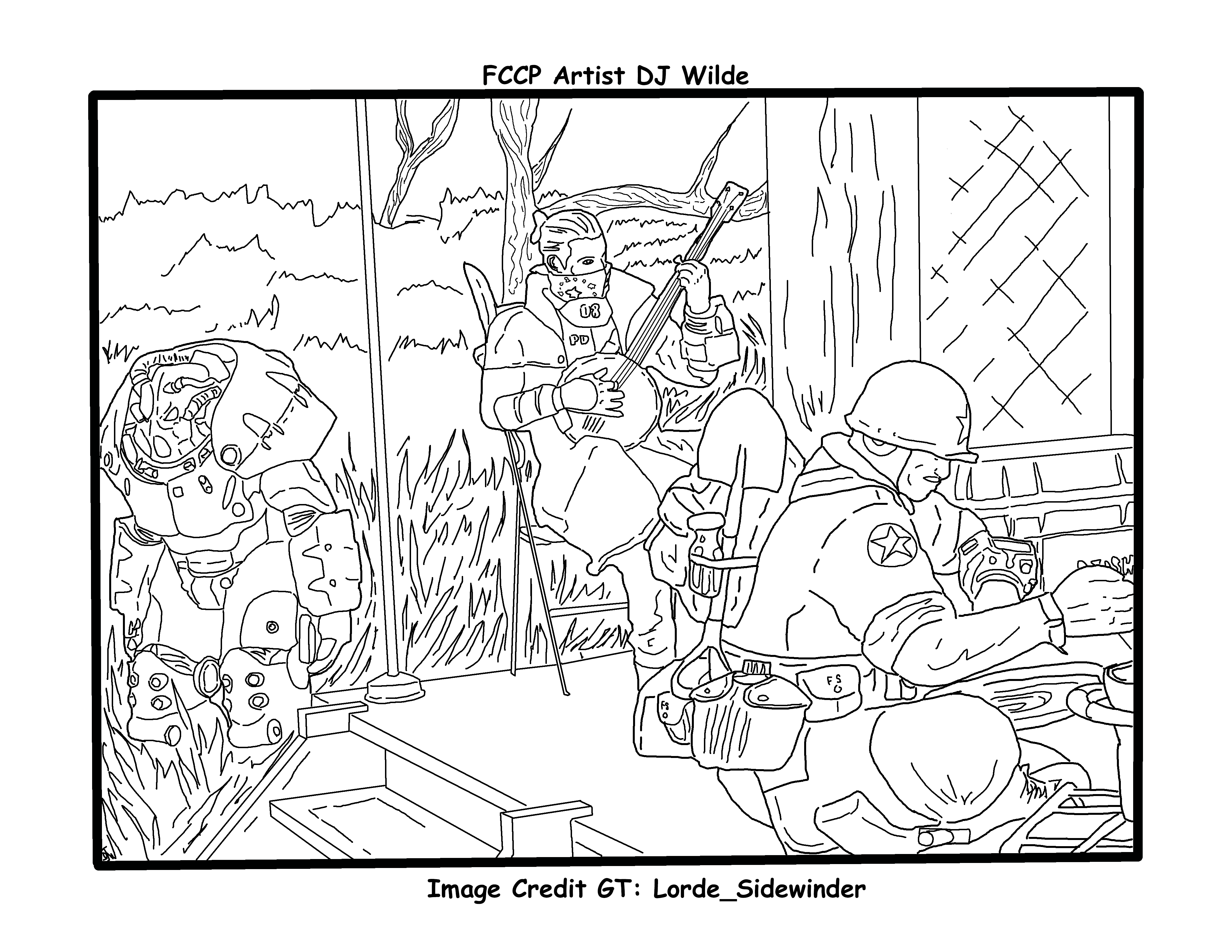 Fallout 76 Camp Life coloring page in 2020 | Coloring ...