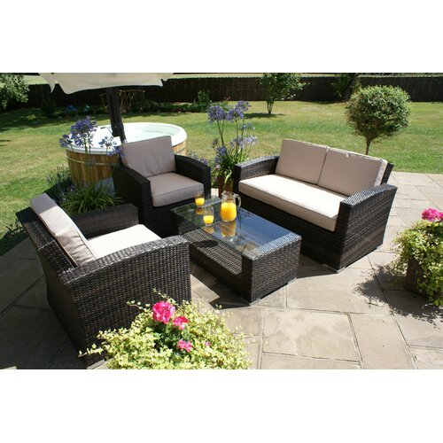 Seater Rattan Effect Sofa Set