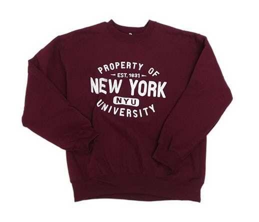 14d53b252dd New York University Bookstores - Property of NYU Crew Sweatshirt ...