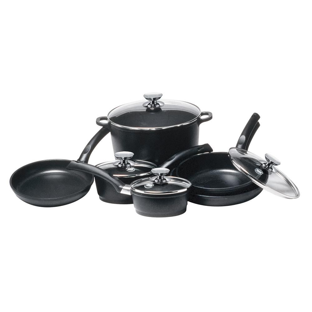 Berndes Signocast 10 Piece Non Stick Cast Aluminum Cookware Set With Lids 697018 Cookware Set Cookware Cooking Tools
