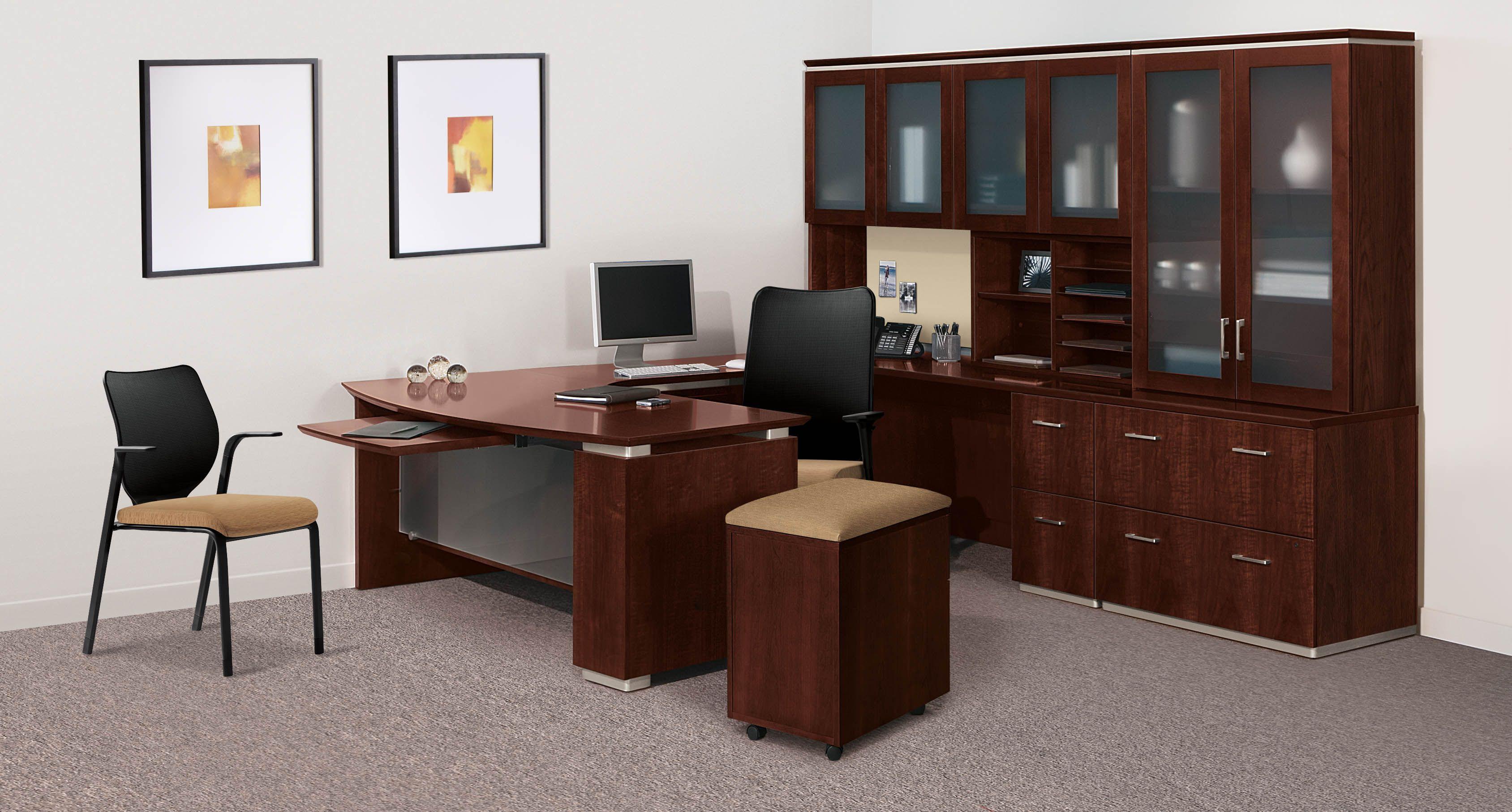 Hon Announce Series Bow Front U Shaped Desk