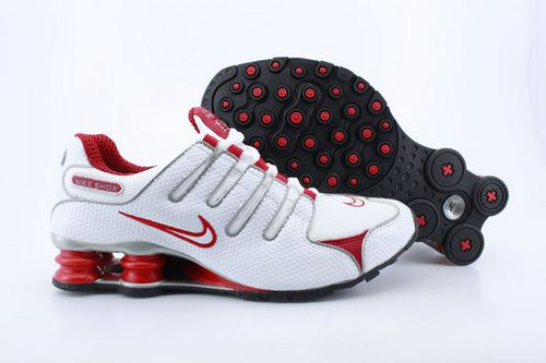 info for e044b f474e Nike Shox NZ Men s Tennis Shoes white red