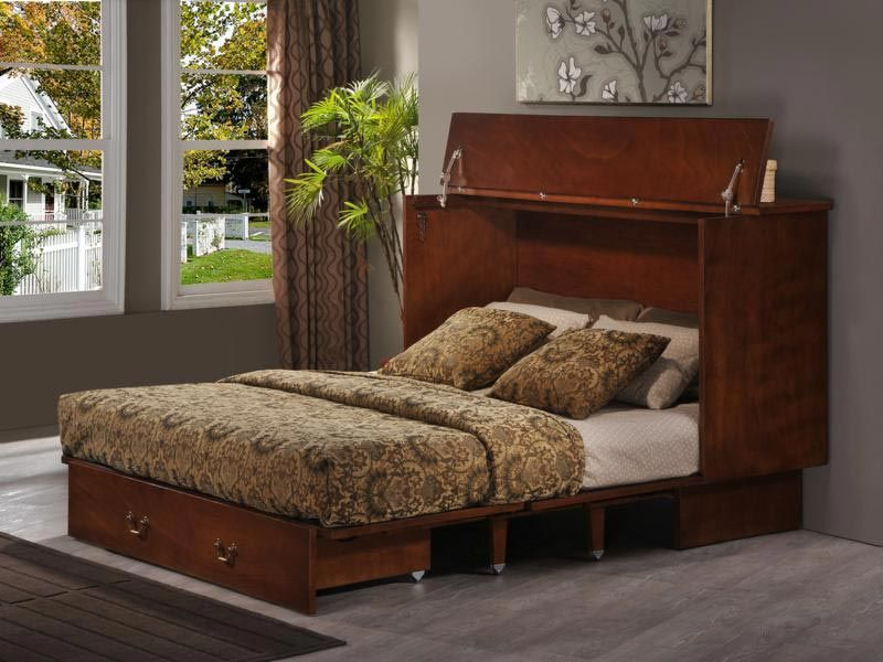 Convertible Bed. This bed fold up small, into a