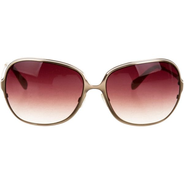 Pre-owned Oliver Peoples Vianca Gradient Sunglasses ($95) ❤ liked on Polyvore featuring accessories, eyewear, sunglasses, gold, gradient glasses, gradient sunglasses, oliver peoples, oliver peoples sunglasses and oliver peoples glasses
