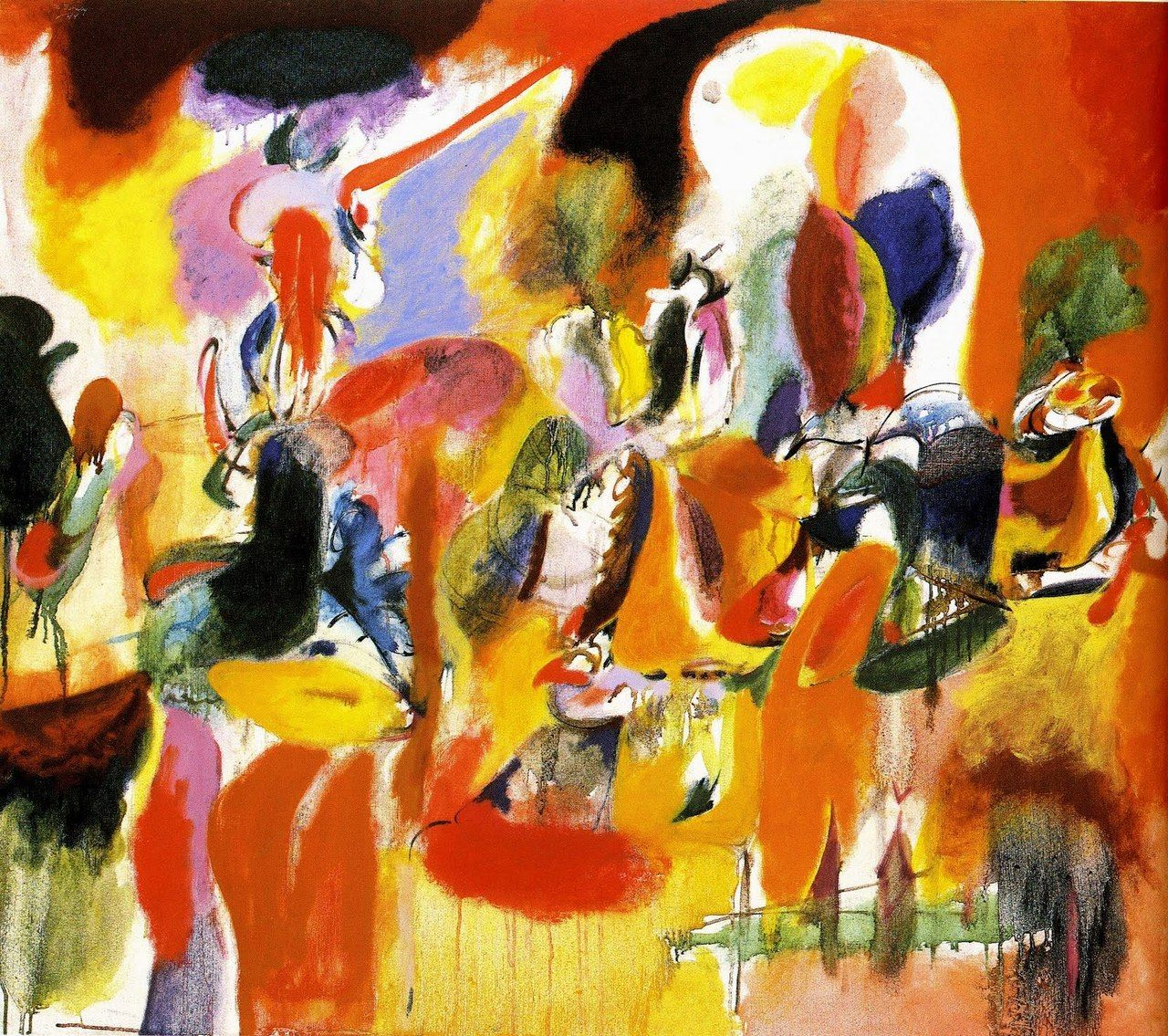 Arshile Gorky Water Of The Flowery Mill 1944 From The