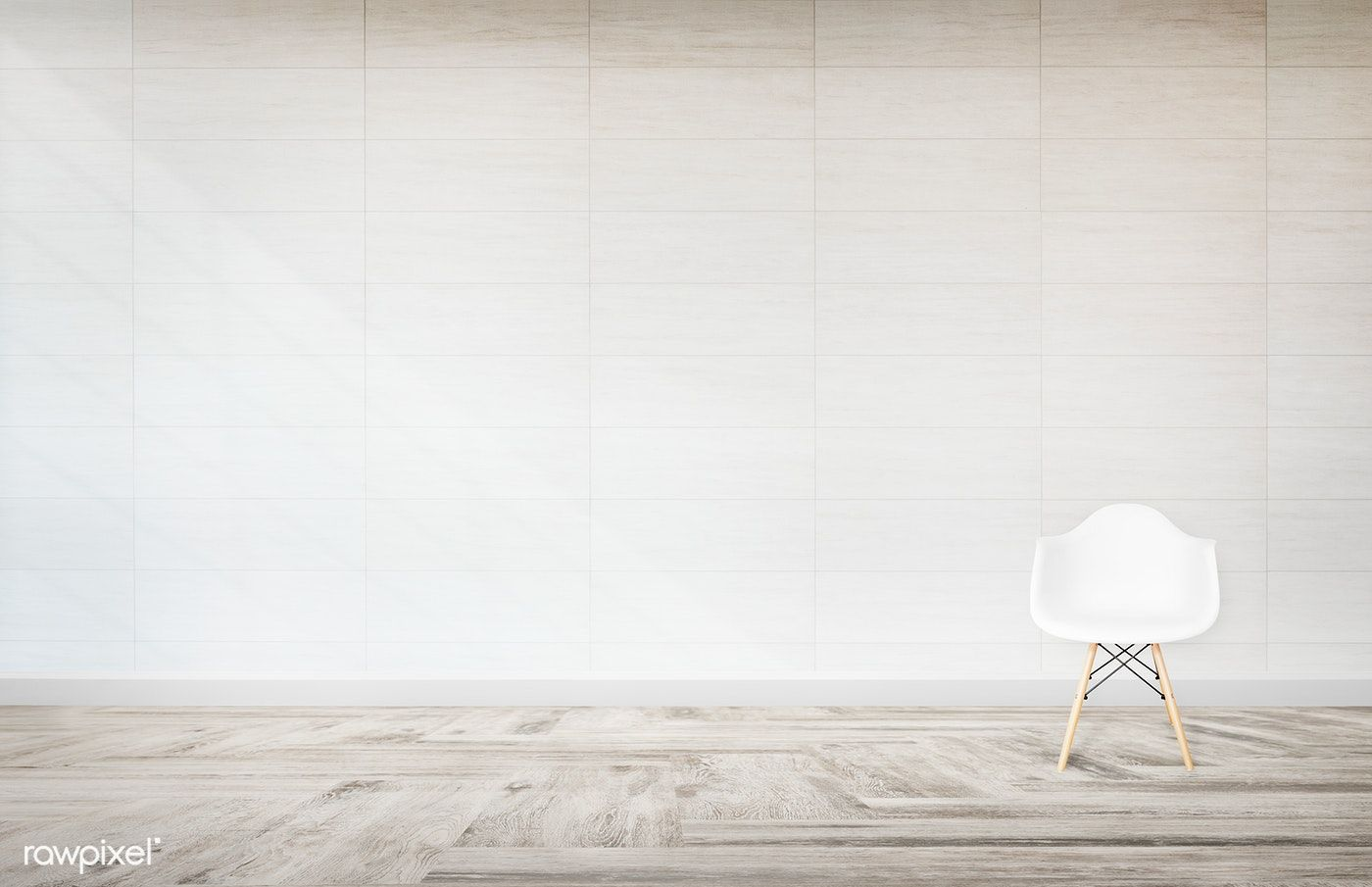 White Chair Against A Wall Mockup Free Image By Rawpixel Com White Chair Living Room Chairs Walls Room