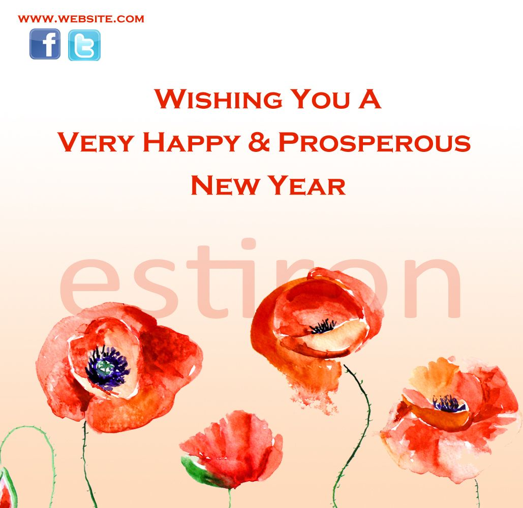 Sample New Year Greeting Card Greeting Card Pinterest