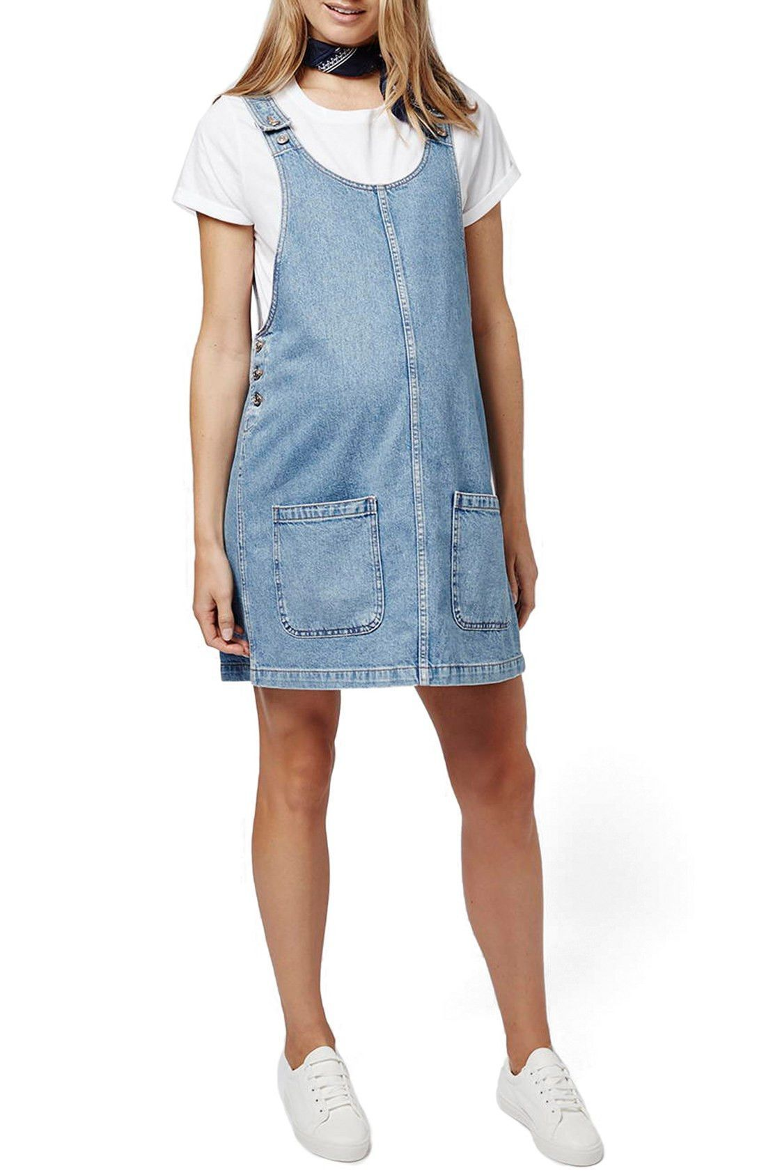 Scooped neck denim maternity pinafore dressing room pinterest scooped neck denim maternity pinafore ombrellifo Choice Image