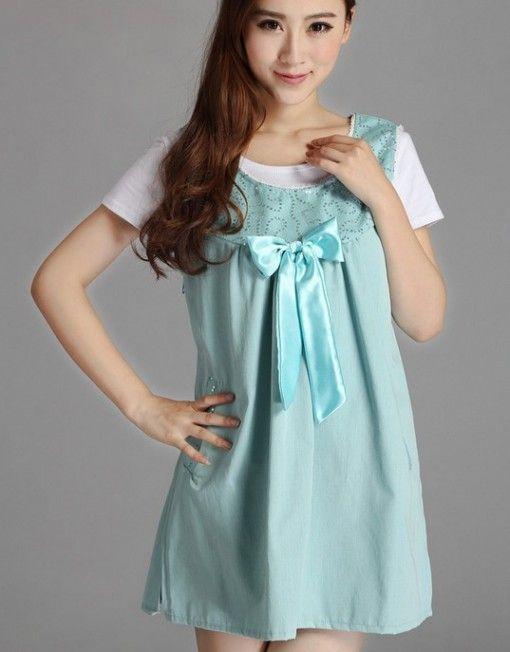 Radiation-free Dress Colour: Light green/Shiny green ribbon