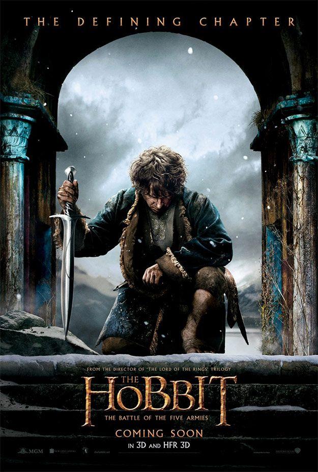 El Hobbit La Batalla De Los Cinco Ejercitos Portadas De Peliculas Poster De Cine Carteles De Cine