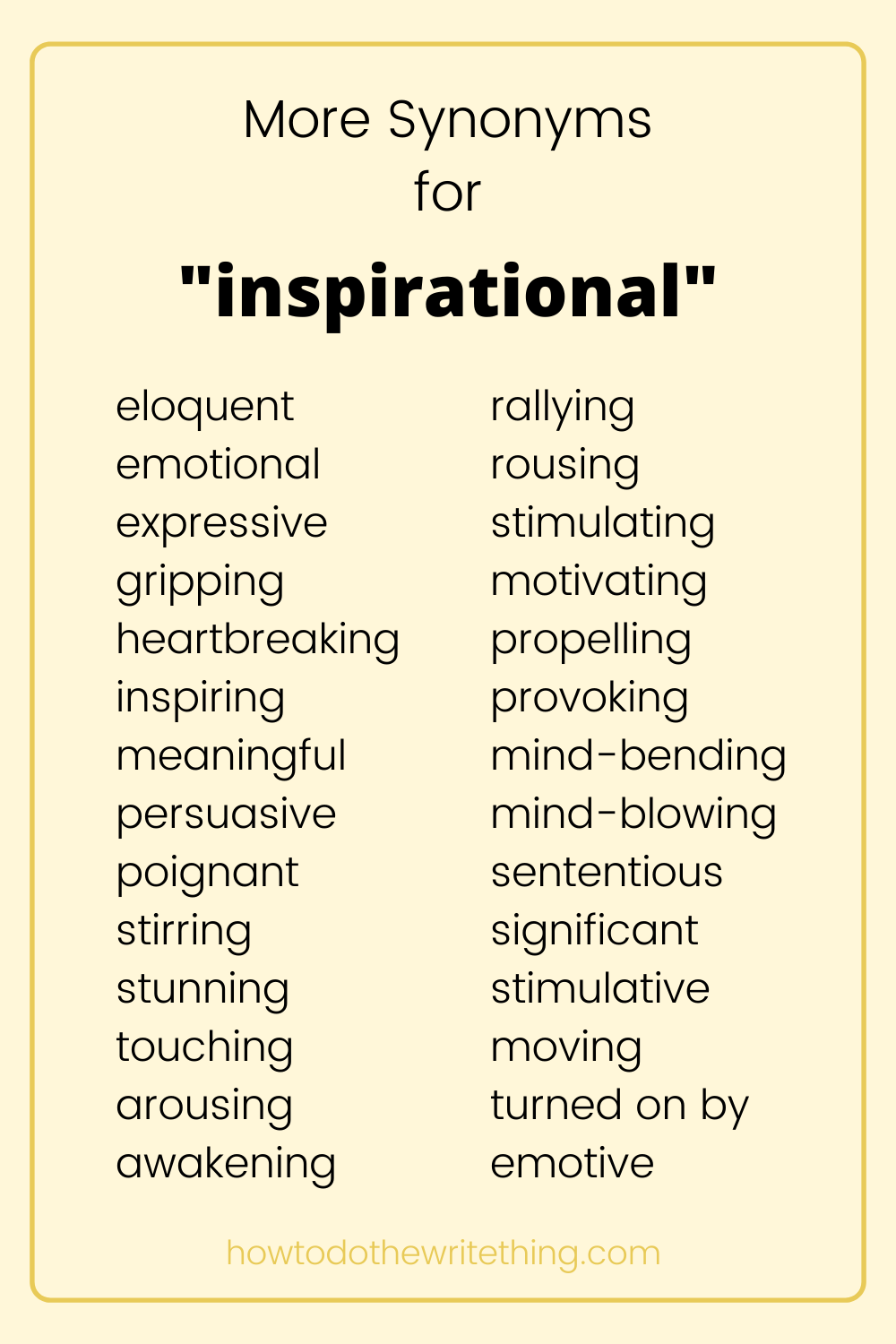 More Synonyms for