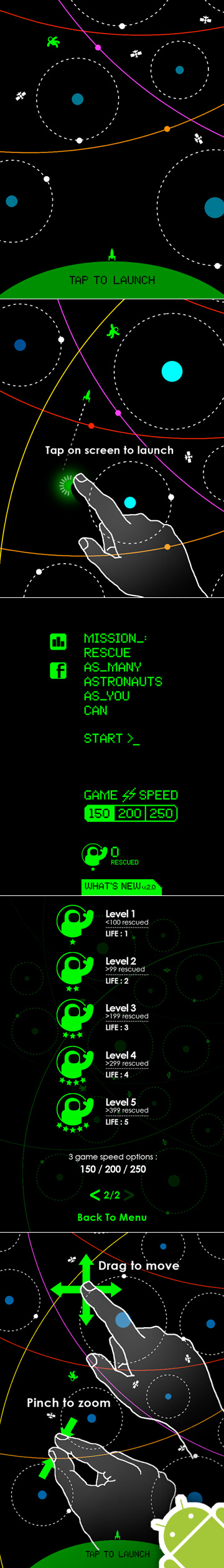 Orbit One // FREE Android game // 8-bit // retro // Timing is everything.