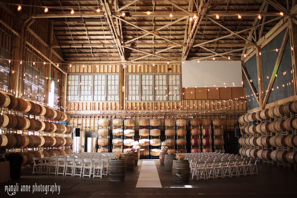 Winery Sf Treasure Island San Francisco Wedding Reception Set Up