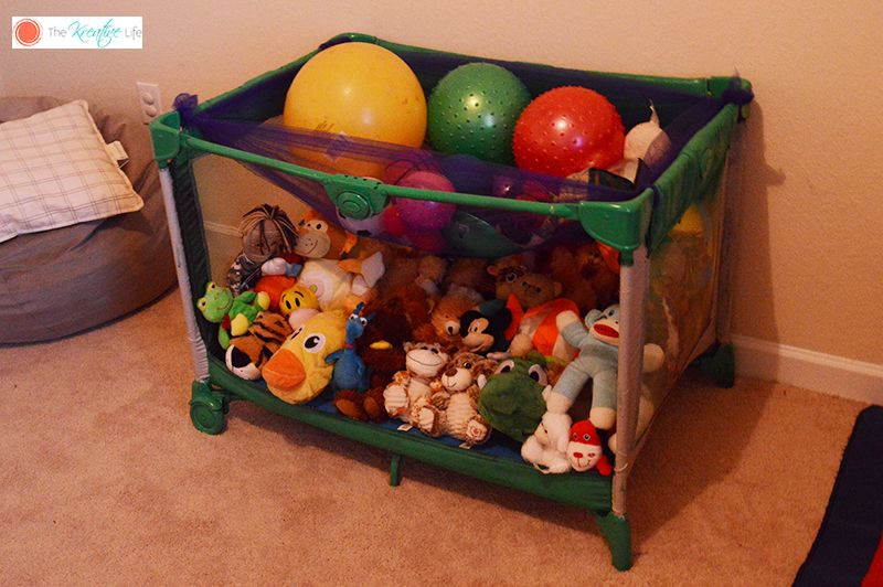 DIY Toy Storage - The Kreative Life & DIY Toy Storage | Diy toy storage Toy storage and Home-made toys