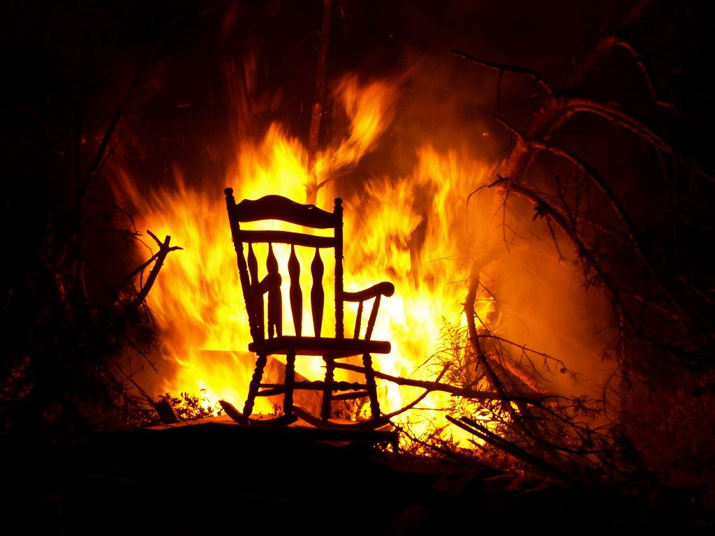 Chair On Fire In 2020 Old Things Fire Local Artists