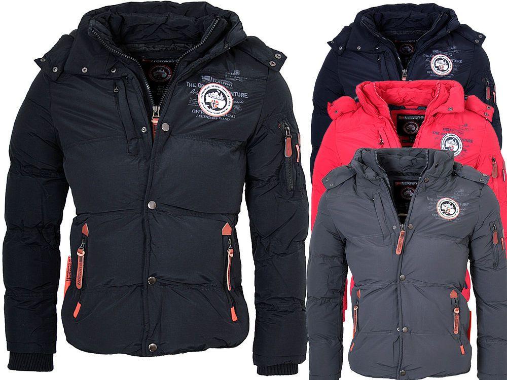 Geographical Norway Herren Winter Jacke Winter Parka Warme Jacke Bomber Jacke Ebay Jacken Winterjacken Herren Winter