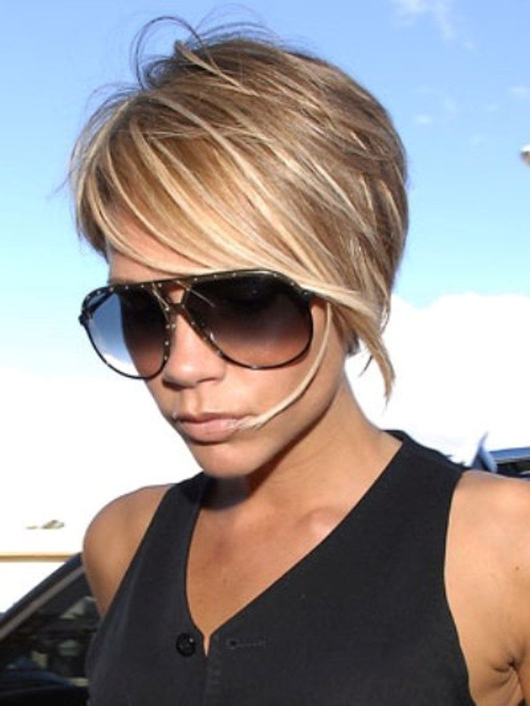 short hairstyles with highlights | brown and blonde highlights