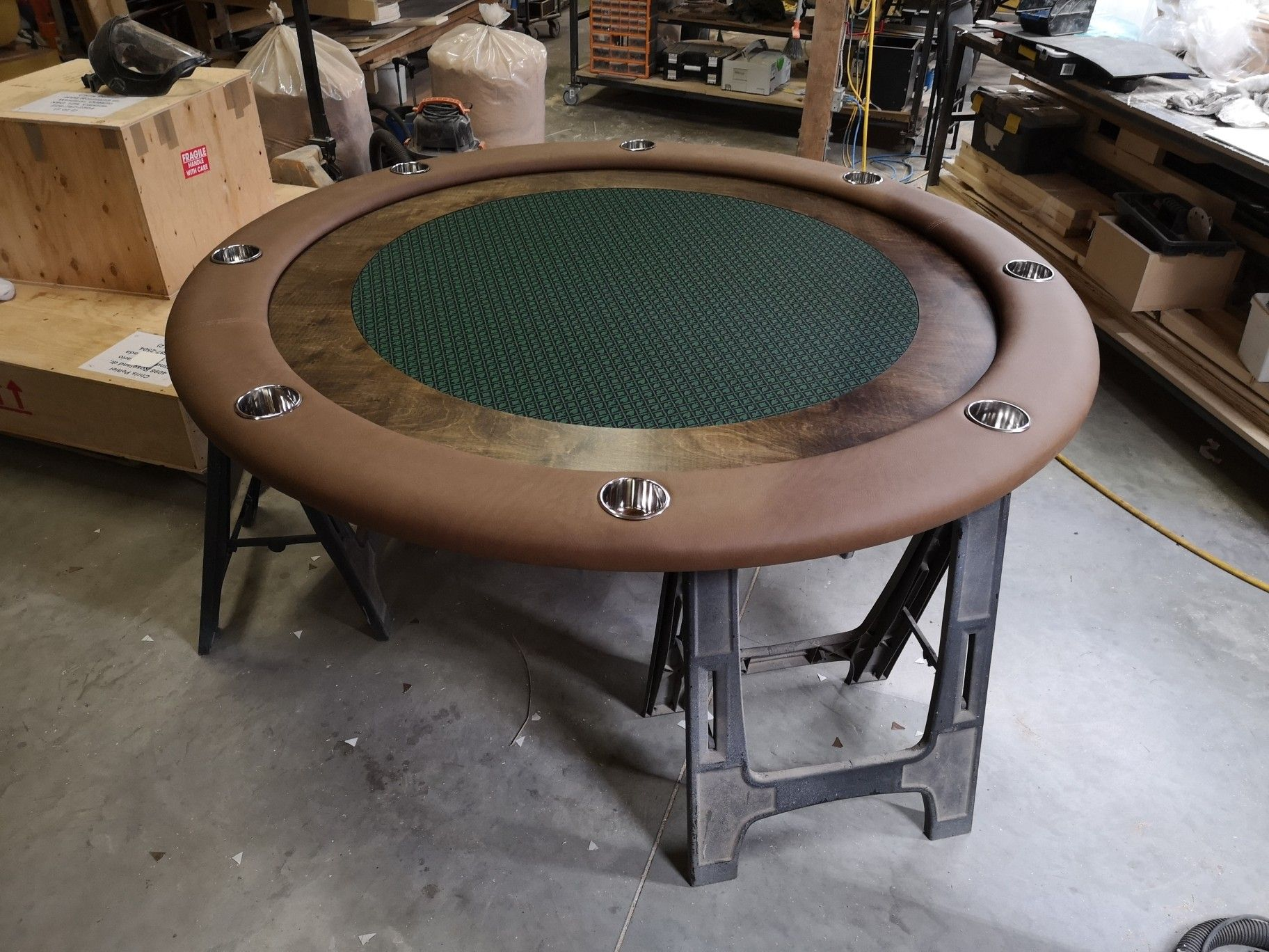 Poker Topper To Place On Top Of An Existing Dining Table Custom Poker Tables Poker Table Poker
