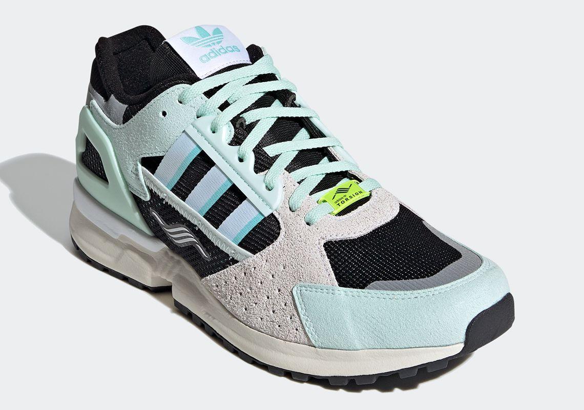 The Updated Adidas Zx 10 000c Returns In A Minty Green Best Sneakers Footwear Sneaker Head