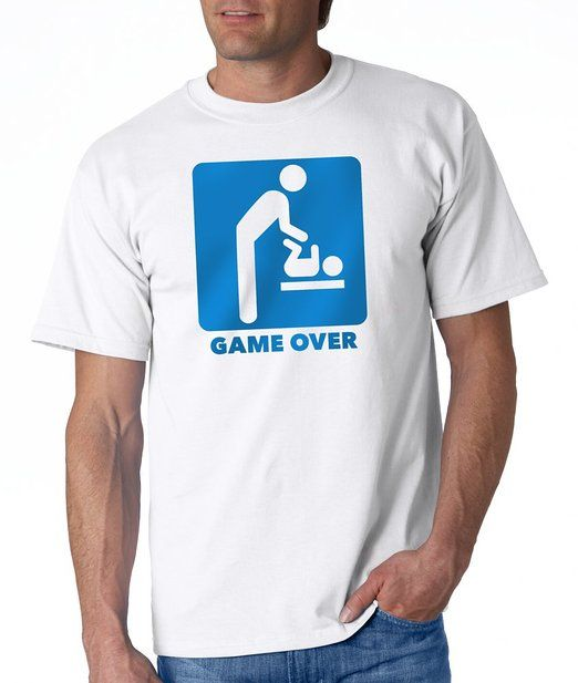cd16db57 Game Over | Father to Be Tee | Funny T-shirt for the New Dad or a Great Father's  Day Gift defplanet.com