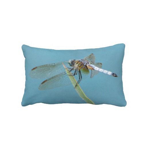 #Dragonfly Against Blue Sky Throw #Pillows