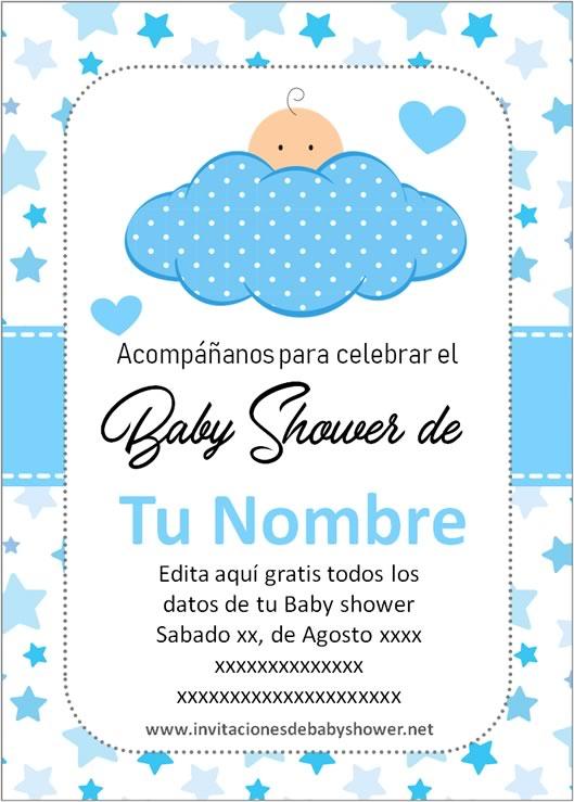 Invitaciones Baby Shower Gratis Para Personalizar Niño : invitaciones, shower, gratis, personalizar, niño, Mejores, Invitaciones, Shower, Niño, Editar【20…, Invitaciones,, Plantillas, Shower,, Invitación