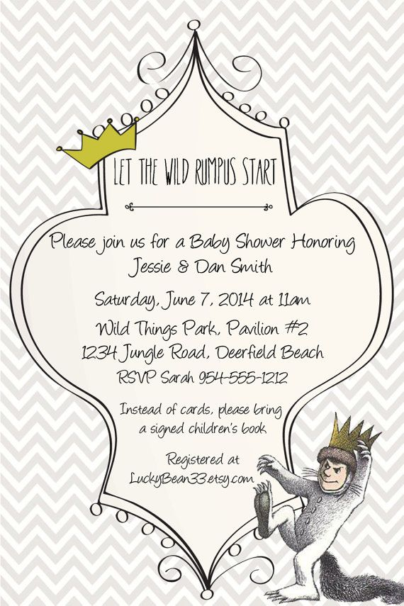 Where the Wild Things Are Baby Shower Invitation Template | Baby ...