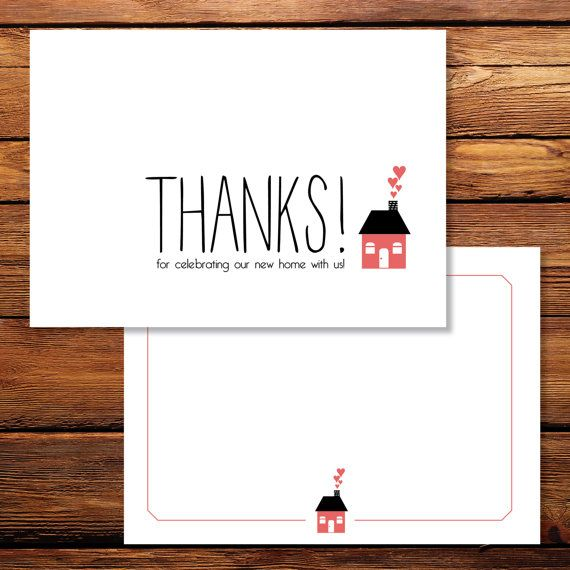 Thank You Cards Housewarming Thank You Cards Custom Thank Etsy Custom Thank You Cards House Warming Thank You Cards