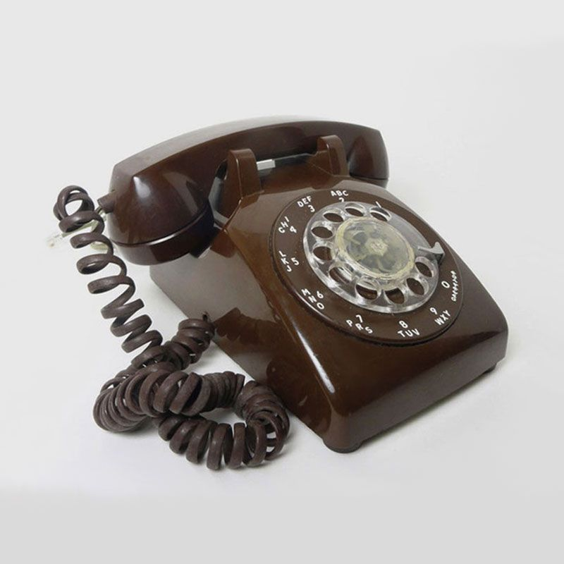 Itt Brown Vintage Rotary Dial Desk Telephone - Vtel100