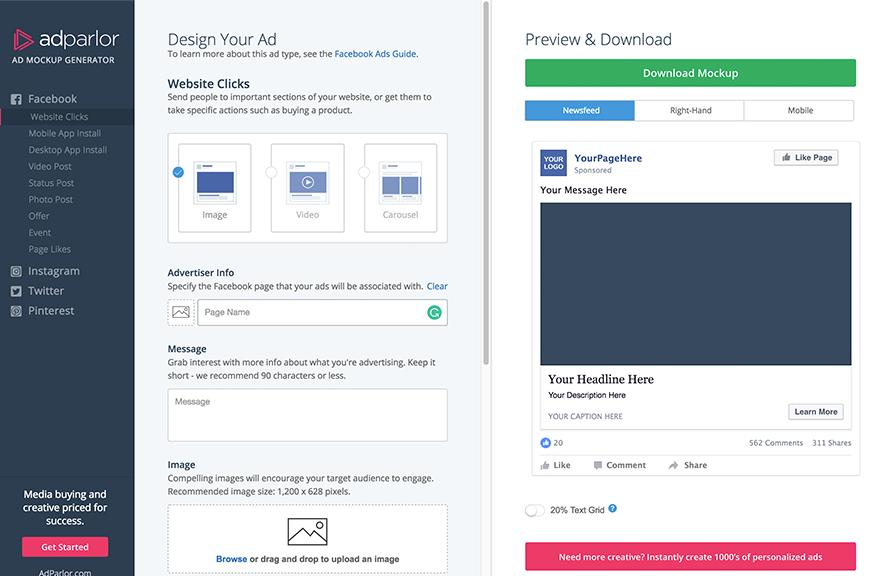 Facebook Carousel Mockup Social Media Mockup Instagram Mockup Mockup Design