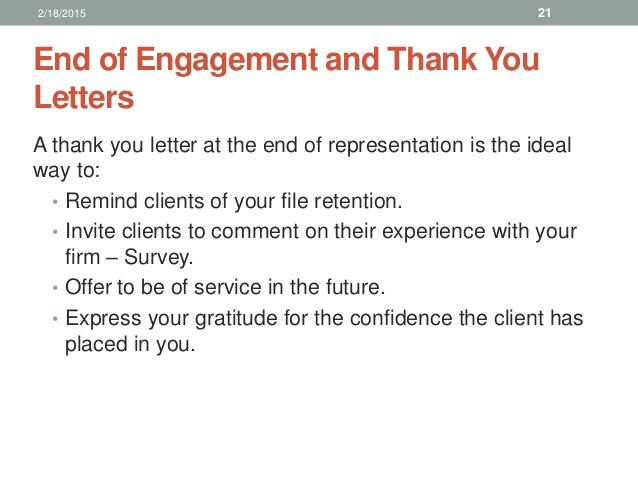 End Engagement And Thank You Letters Letter Client For Business