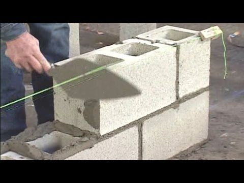 How To Build A Block Wall Lay The Blocks Http