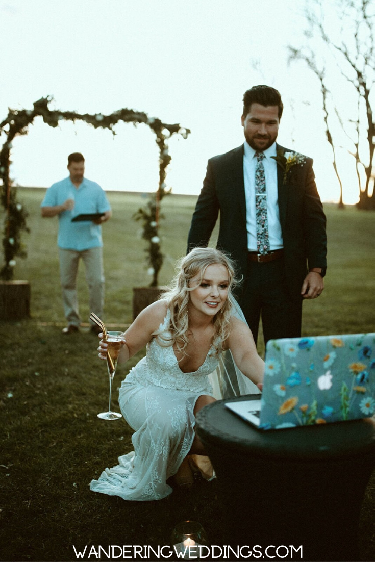 Live Stream Wedding Details Planning Tips Wandering Weddings In 2020 Backyard Wedding Ceremony Intimate Wedding Ceremony Backyard Wedding