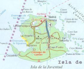Cuba Travel Maps Com Isla De La Juventud Province Map Cuba Map - Cuba provinces map