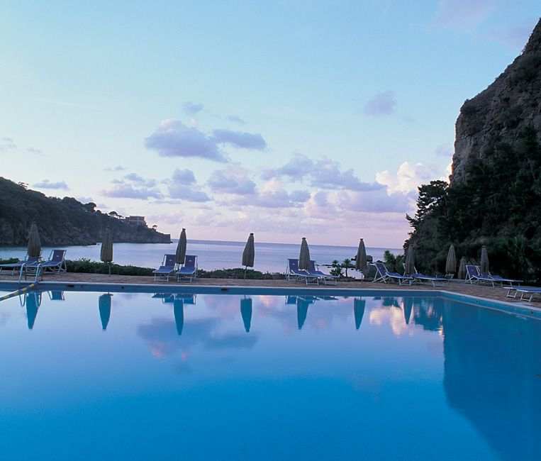 Negombo Spa, Ischia, Italy. I remember this pool. Its salt