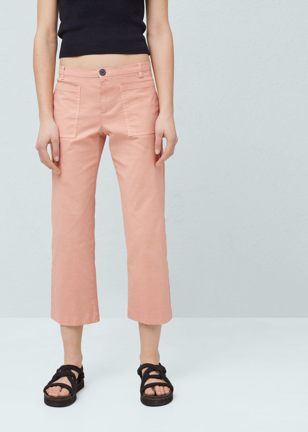 9f05fb25db Cotton crop trousers - Women | get in my closet. | Cropped trousers ...