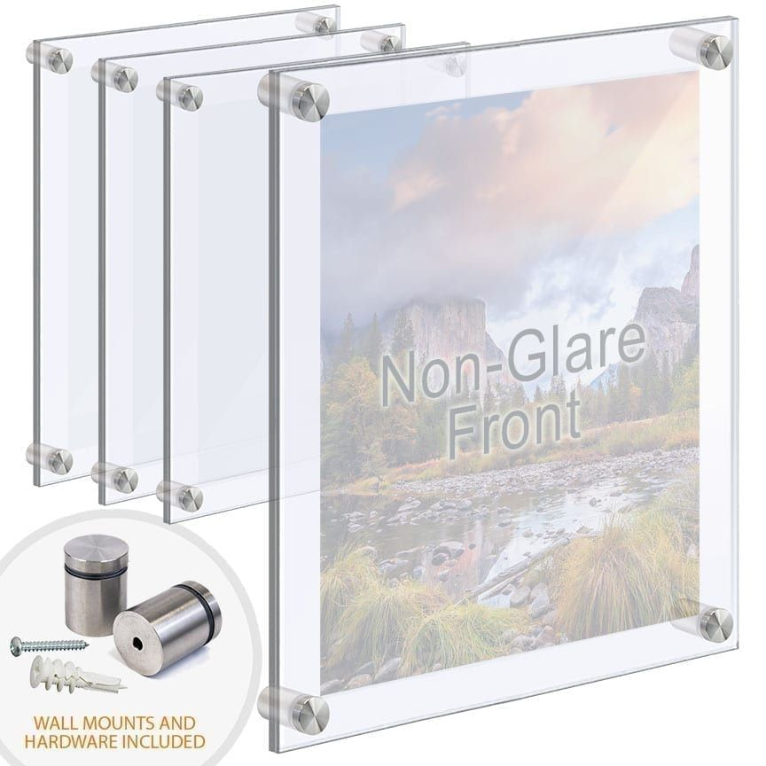Extra Large Acrylic Poster Frames With Standoffs Hardware Bundle Deal In 2020 Floating Acrylic Frame Acrylic Set Acrylic Panels