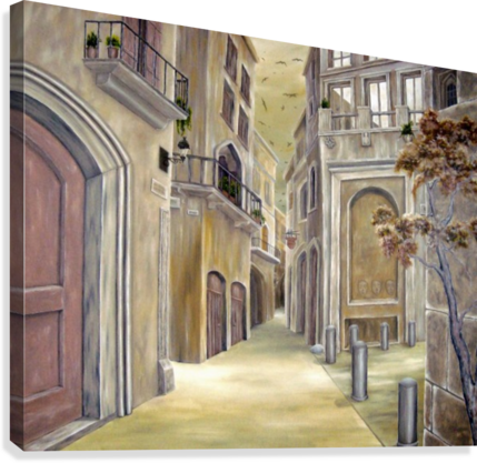 75f2424fa1b Town Alley - Fotini Anastasopoulou - Canvas Artwork