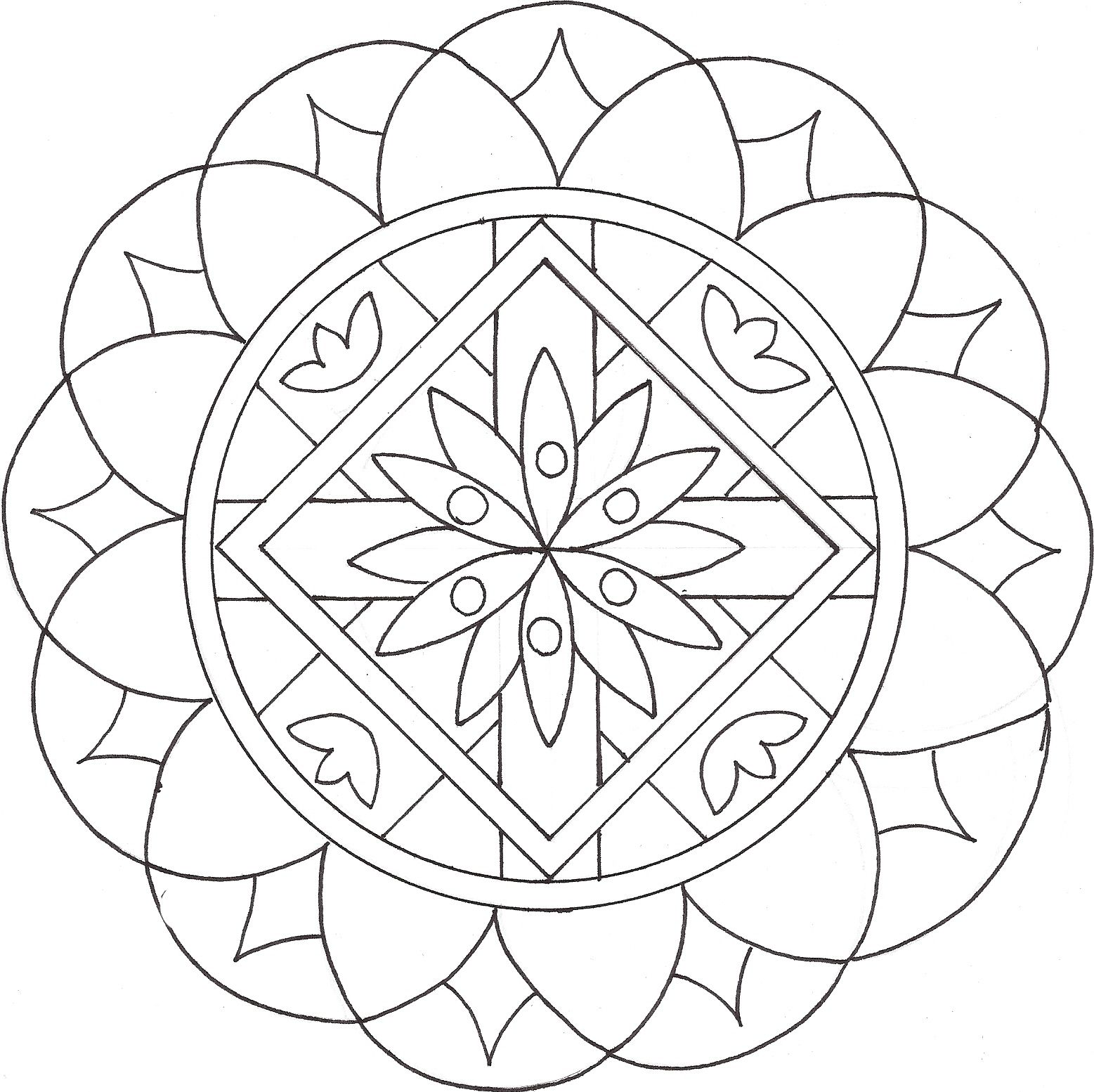 dibujos asimétricos para colorear - Buscar con Google | Mandalas ...