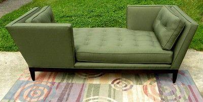 century furniture sofa quality palliser recliner designer fabric wormley inspired tete a mid